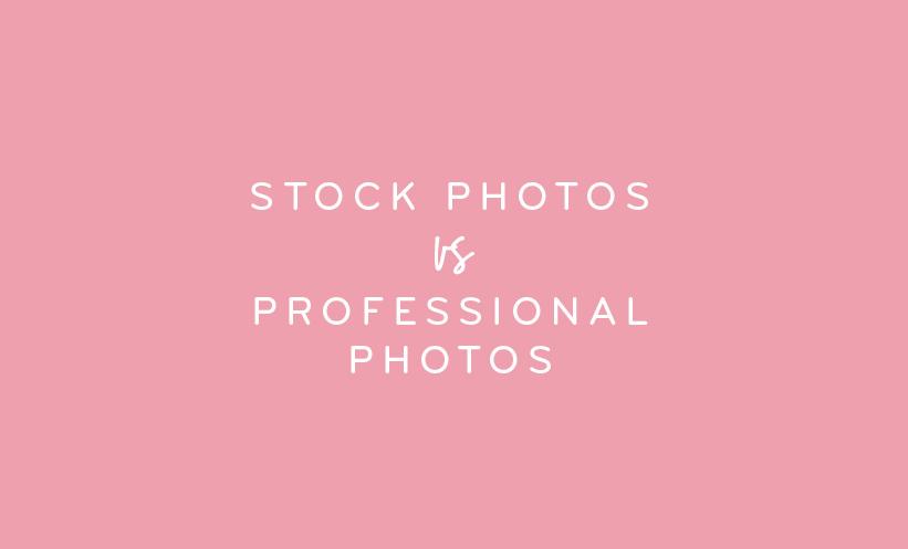 Stock Photos versus Professional Photos