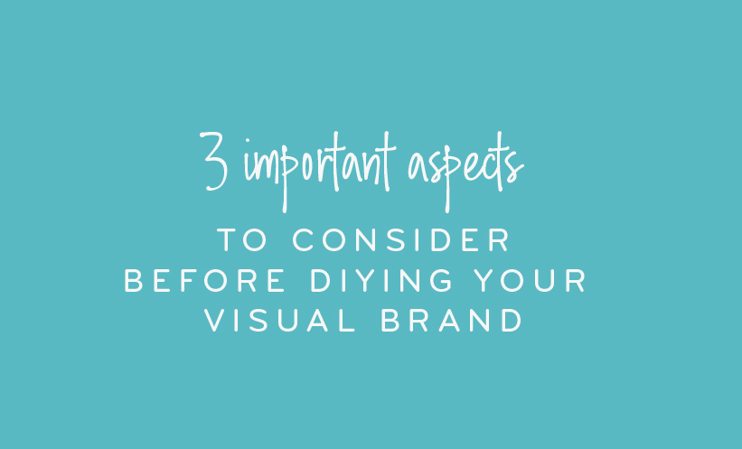 3 important aspects to consider before diying your visual brand