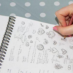 Sketching initial logo designs