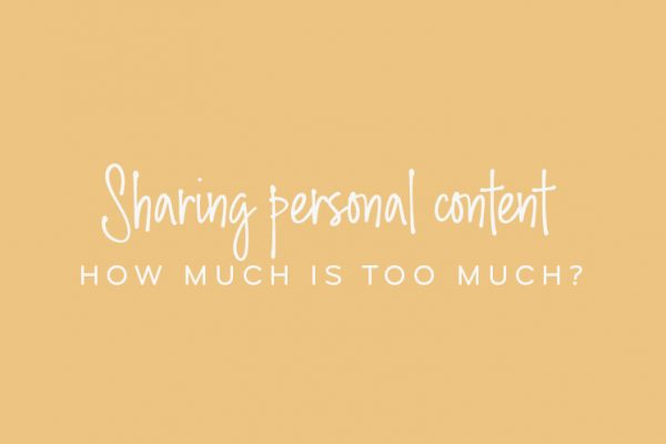Sharing personal content – how much is too much?